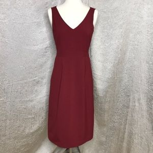 J. Crew Red Wool Sheath Dress Size 2